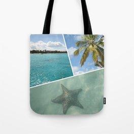Caribbean Photo Collage - Isla Saona Tote Bag