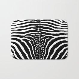 Zebra Stripes Print Bath Mat