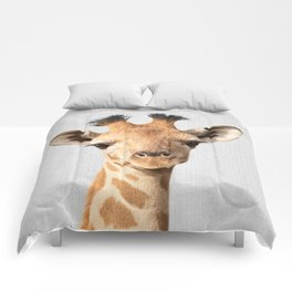 Baby Giraffe - Colorful Comforters