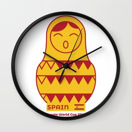 Matrioska Spain | Russia World Cup 2018 Wall Clock
