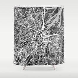 Belfast Northern Ireland City Map Shower Curtain