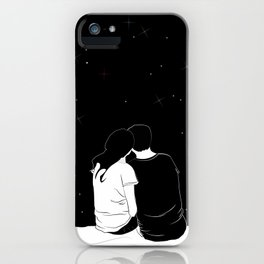 lovers watching the stars iPhone Case