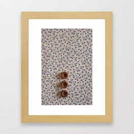 Button-On Floral Framed Art Print