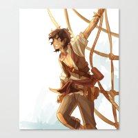 viria Canvas Prints featuring pirate leo by viria