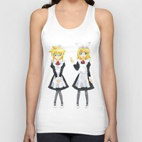 vocaloid Tank Tops featuring Kagamine Twins by Amber Steel