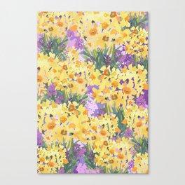 Yellow Daffodil Garden Canvas Print