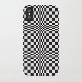 technicolor in black & white iPhone Case