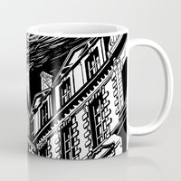 castle Mugs featuring Castle by Pablo Rey