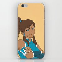 korra iPhone & iPod Skins featuring Korra by Nicky Severein