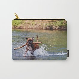 Bailey Plays in the River Carry-All Pouch