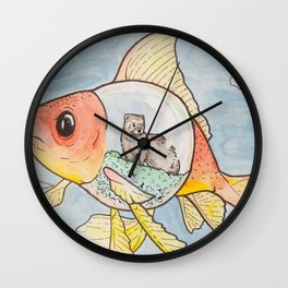 A Sketchy Situation Wall Clock
