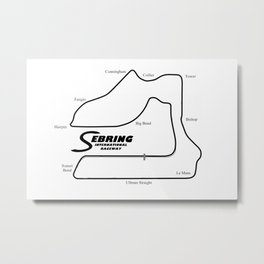 RennSport Shrine Series: Sebring Edition Metal Print