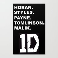 one direction Canvas Prints featuring One Direction by amy.