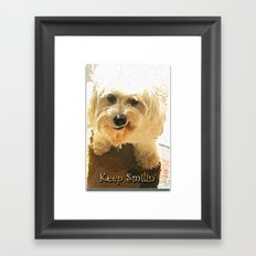 Keep Smilin' Poster Framed Art Print