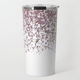 Sparkling rose quartz glitter confetti - Luxury design Travel Mug