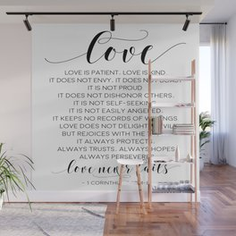 DEFINITION OF LOVE, Love Is Patient Love Is Kind,Love Quote,Love Art,Love Gift,Darling Gift,Love you Wall Mural