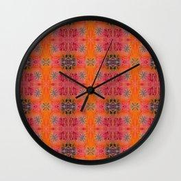 Indie art darker tones Wall Clock