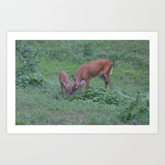 Mom and her baby Art Print