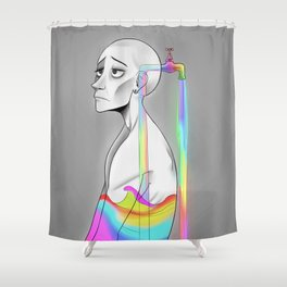 Drained Shower Curtain