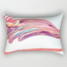 Waved Ballet Dancer Pink Art Rectangular Pillow