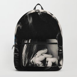 Girl with flowers tattoo Backpack