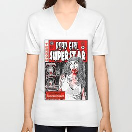 "DEAD GIRL SUPERSTAR ""RETRO COMIC COVER"" Unisex V-Neck"