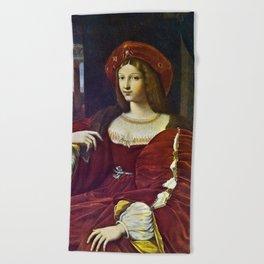 Joanna of Aragon by Raphael Beach Towel