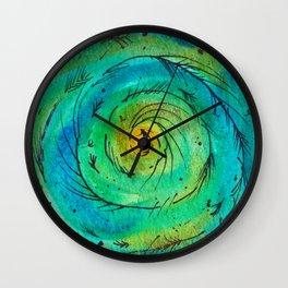 Peacock Swirl Wall Clock