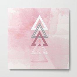 Dusty Pink Lineup Metal Print