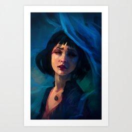 Why so Blue? Art Print