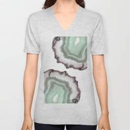 Light Water Agate Unisex V-Neck