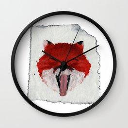 Sleepy Fox Parchment Wall Clock
