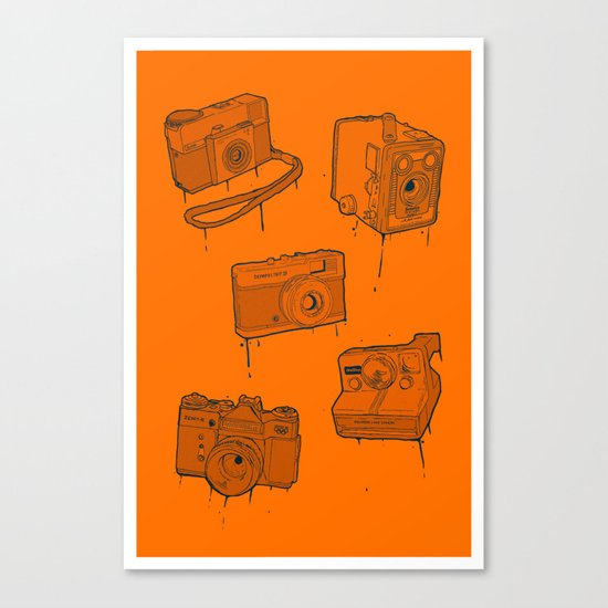 CAMERA SET Canvas Print