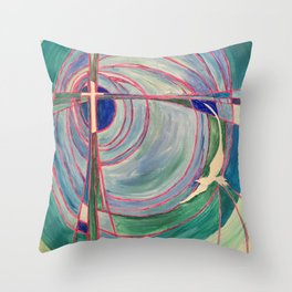Cross and Dove Throw Pillow