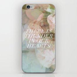 thunder roses iPhone Skin