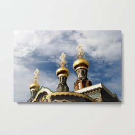 The Russian chapel on Mathildenhöhe Metal Print