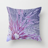 ice Throw Pillows featuring ice by donphil