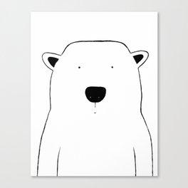 No. 0046 - Modern Kids and Nursery Art - The Polar Bear Canvas Print