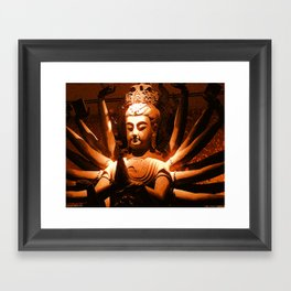 durga, indian goddess Framed Art Print