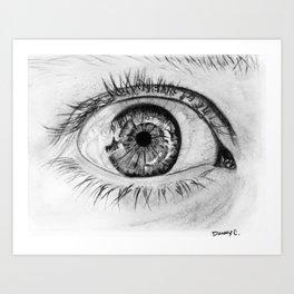 Eye closeup Art Print