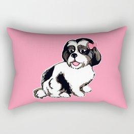Shih Tzu Puppy Rectangular Pillow