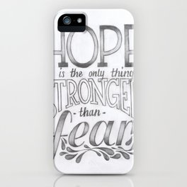 Hope vs. Fear iPhone Case