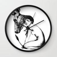 taurus Wall Clocks featuring Taurus by Carolina Espinosa