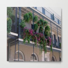 New Orleans Florals Metal Print