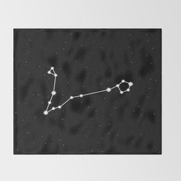 Pisces Astrology Star Sign Throw Blanket