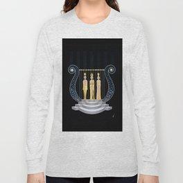"Art Deco 1920's Illustration ""Lyre"" Long Sleeve T-shirt"