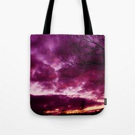 Moody Purple Sky Tote Bag