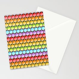Rainbow Dotty Stripes Stationery Cards
