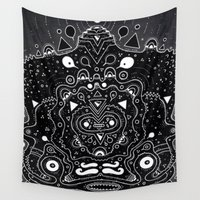 popsicle Wall Tapestries featuring Meat Popsicle by Cosmic Nuggets