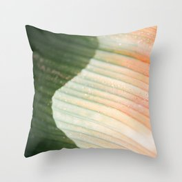 The green wave | colorful botanical photography in the gardens of Dublin Ireland Throw Pillow